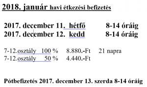 januári befizetés